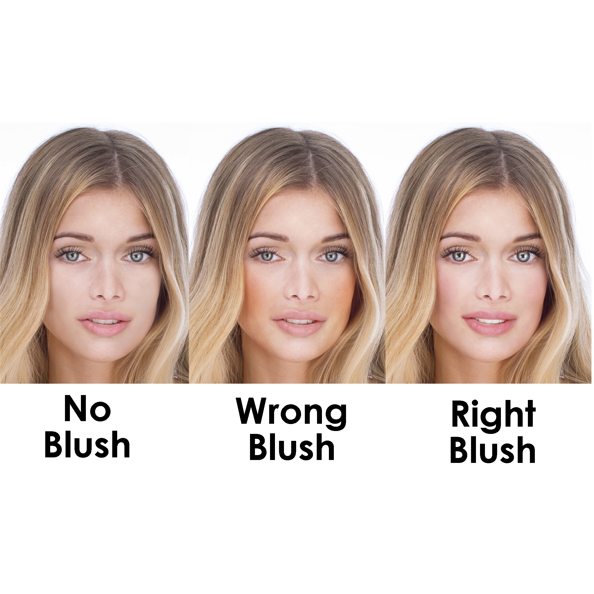 What color of blush is suitable for light pale skin